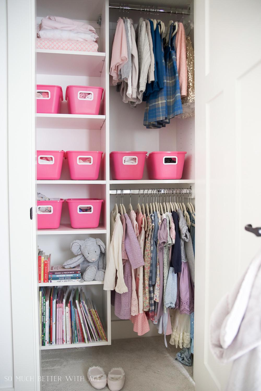 Closet Organization Home Decluttering Diet