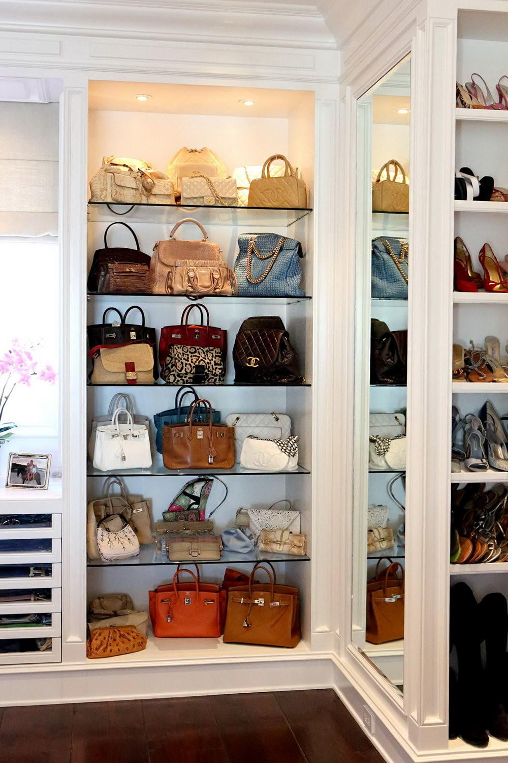 Closet Organizers Purse Storage Home Design Ideas