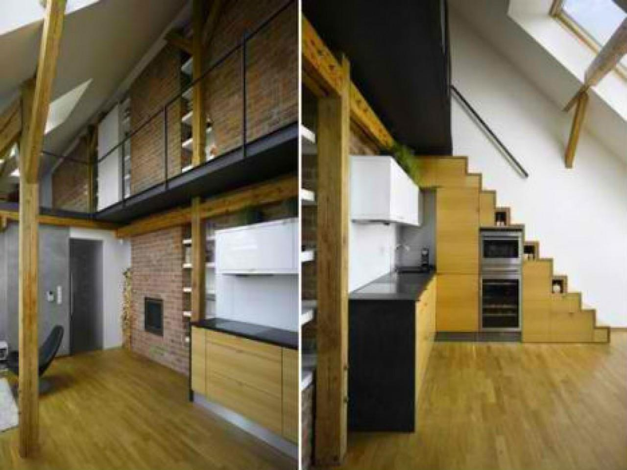 Clothes Drying Room Design Space Saving Stairs Loft
