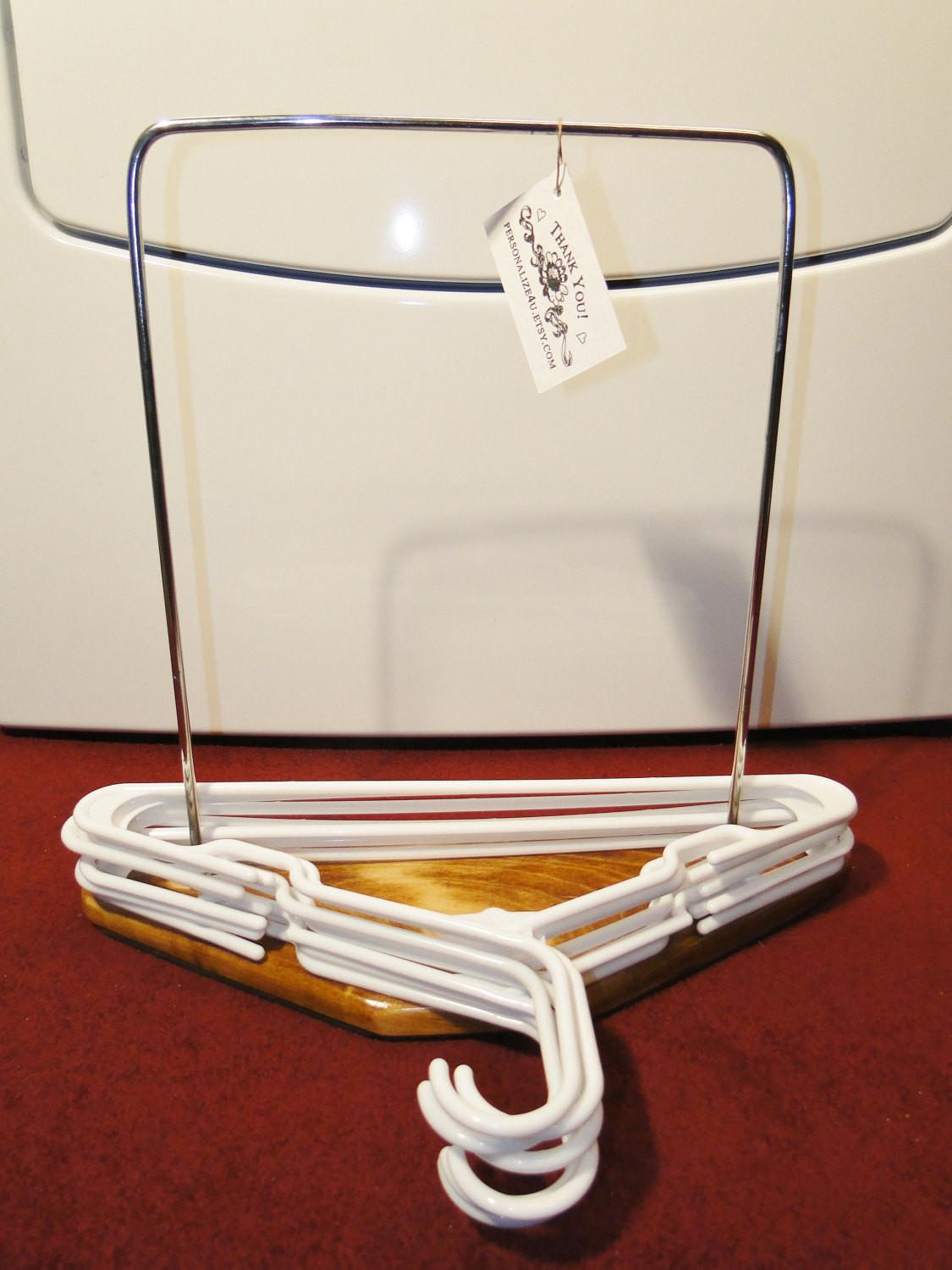 Clothes Hanger Organizer Stand Laundry Room Bedroom