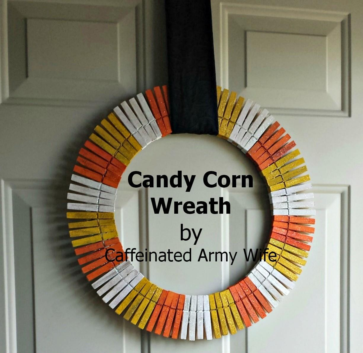 Clothes Pin Winter Wreath Diy Caffeinated Army Wife