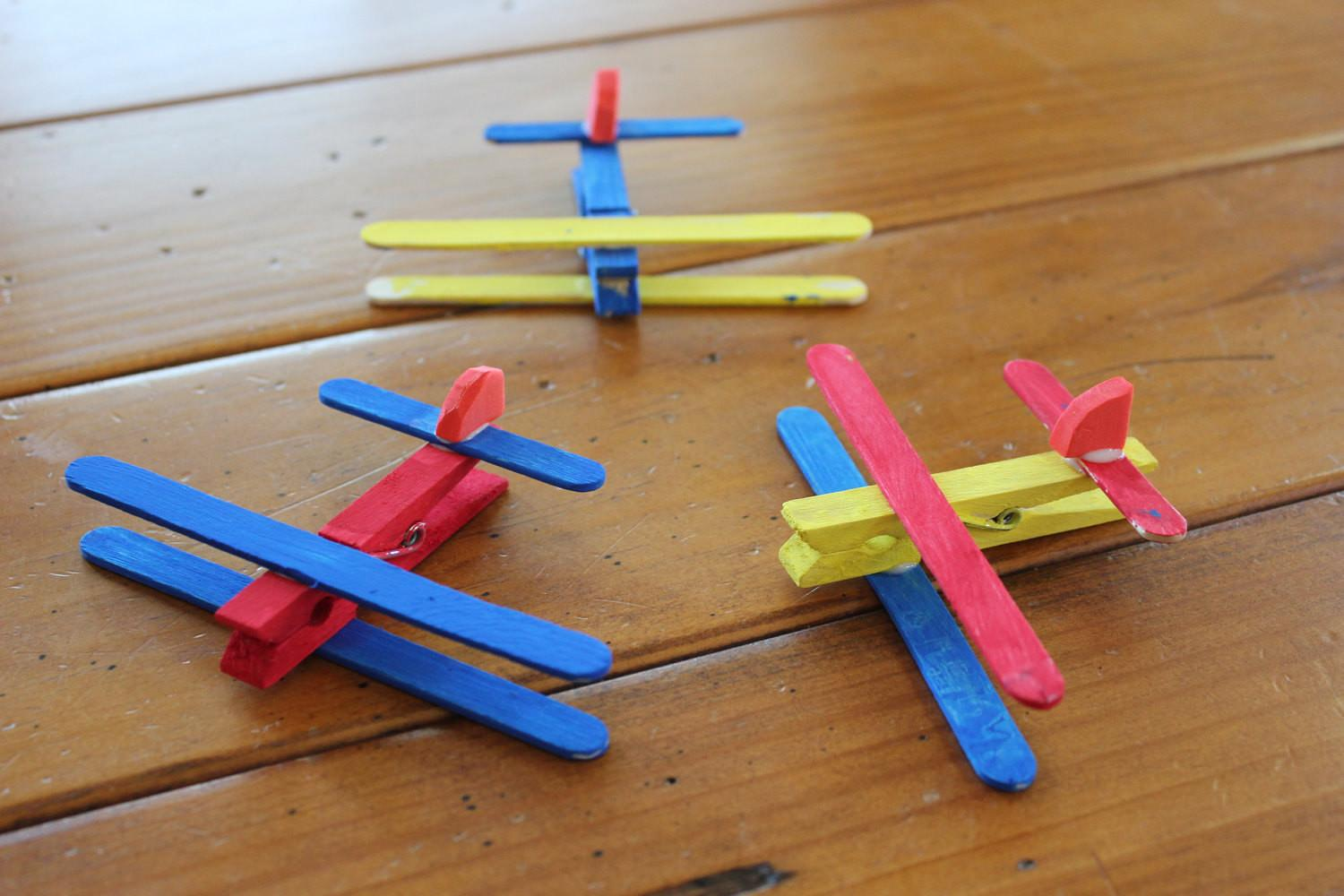 Clothespin Airplane Kids Craft Kit Makes Planes