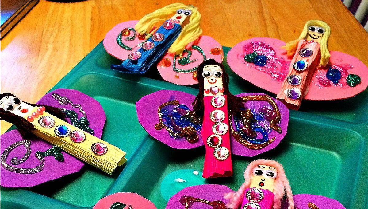 Clothespin Fairy Crafts Kids