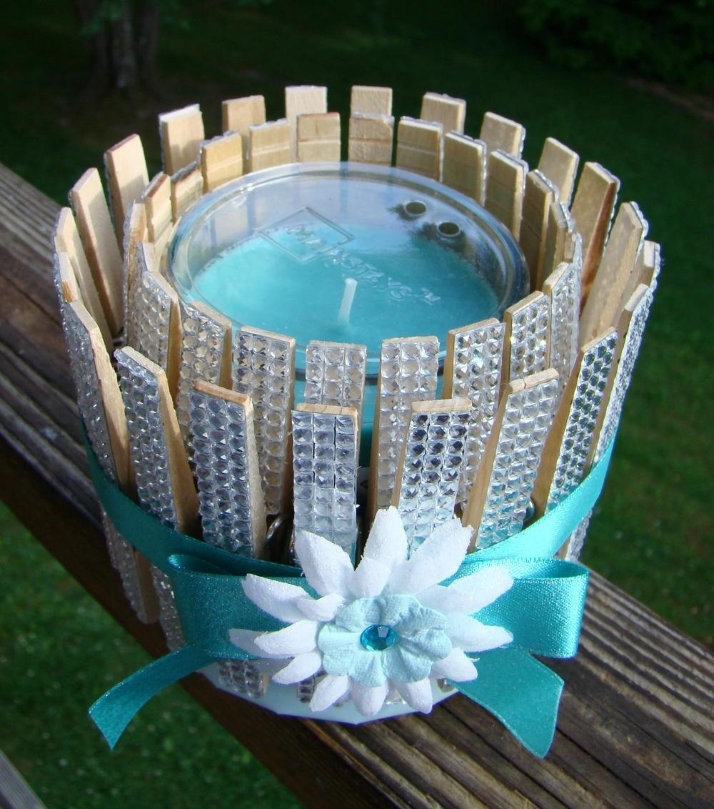 Clothespins Bling Candle Holder Favecrafts