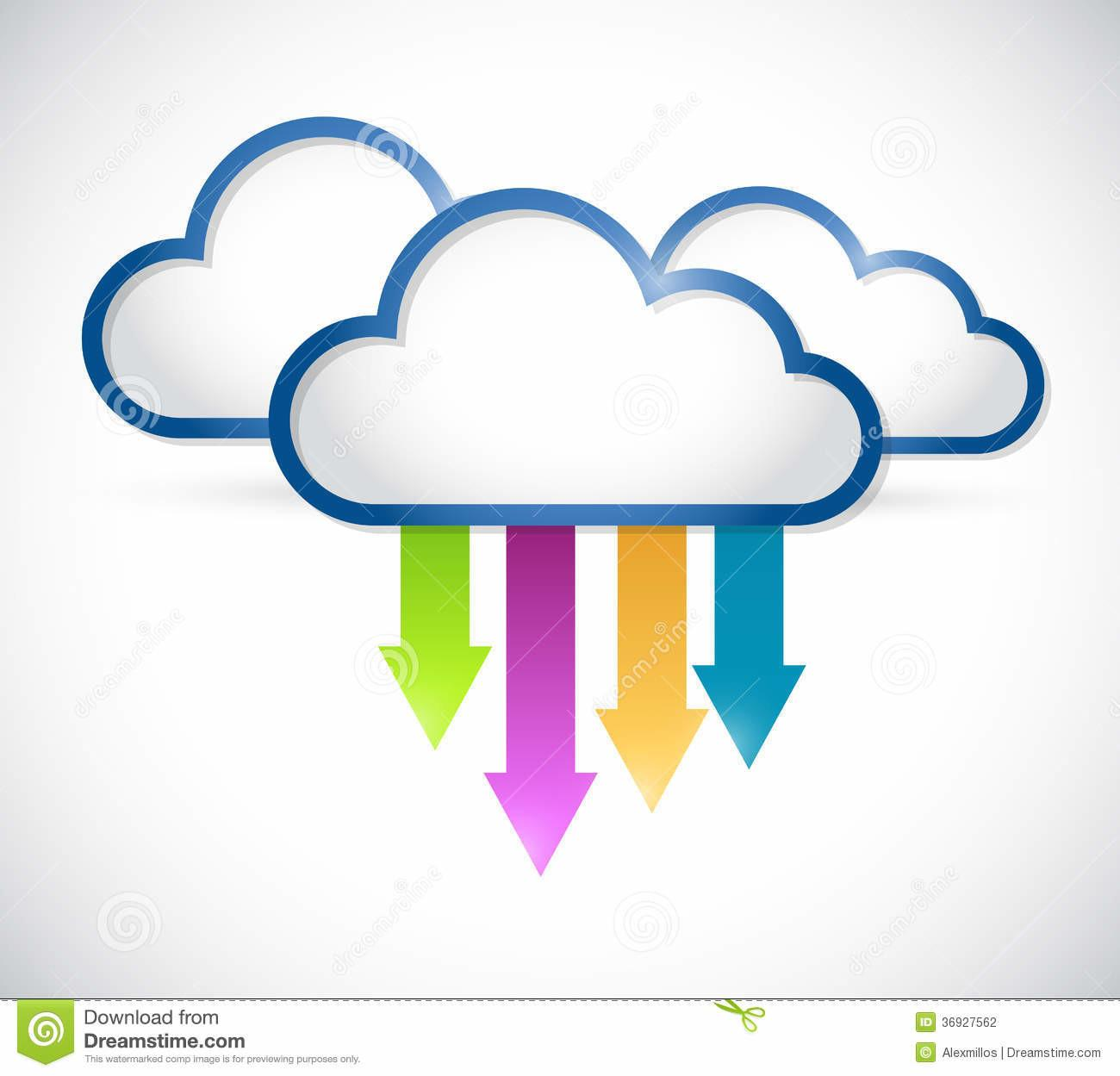Cloud Arrows Destinations Illustration Stock