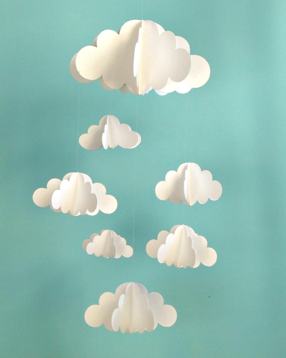 Cloud Baby Mobile Hanging Paper