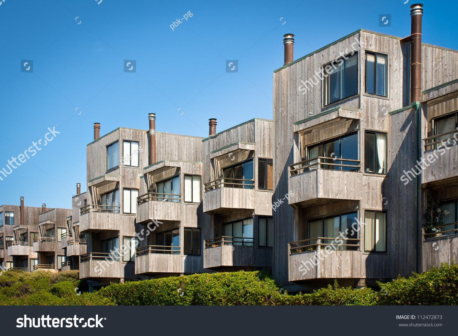 Cluster Modern Style Townhomes Balconies