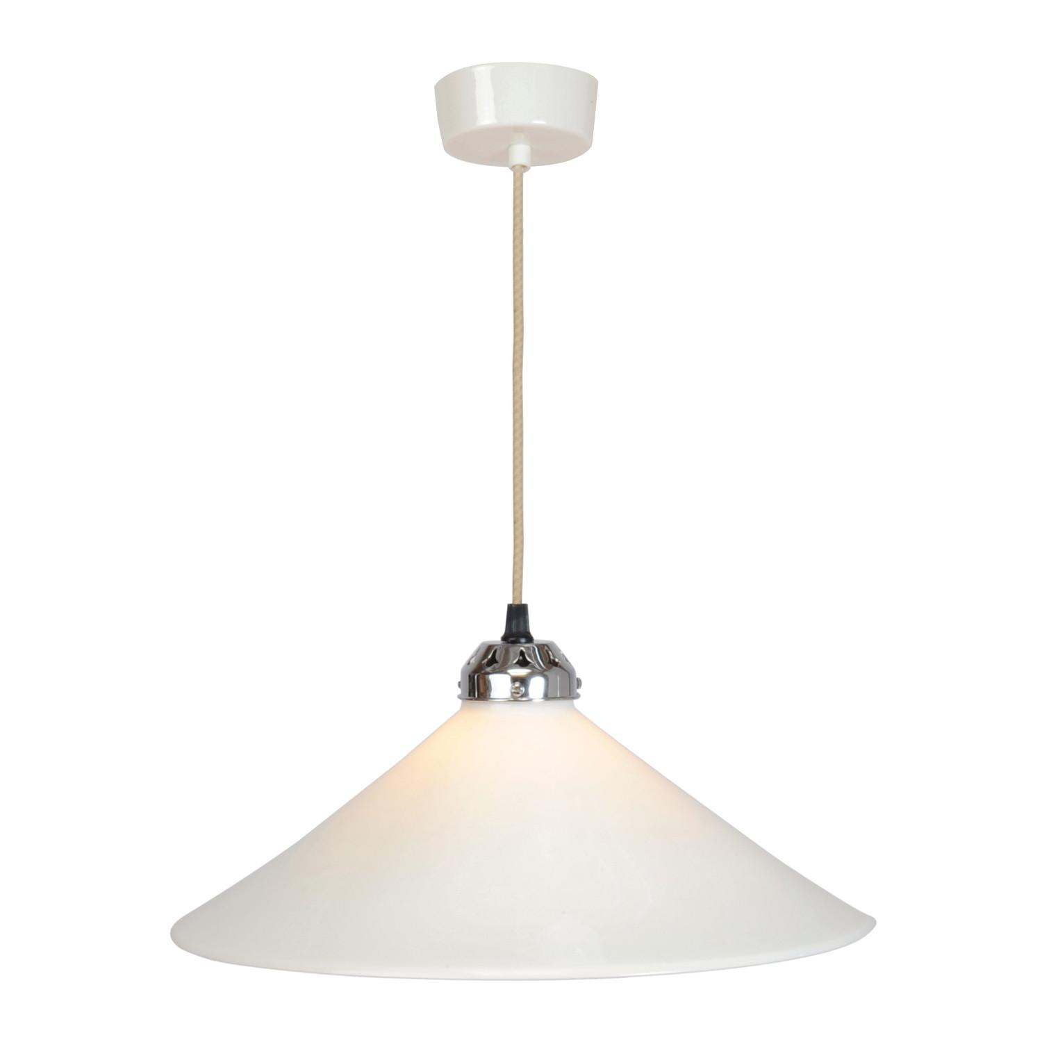 Cobb Large Plain Pendant Light White Original Btc