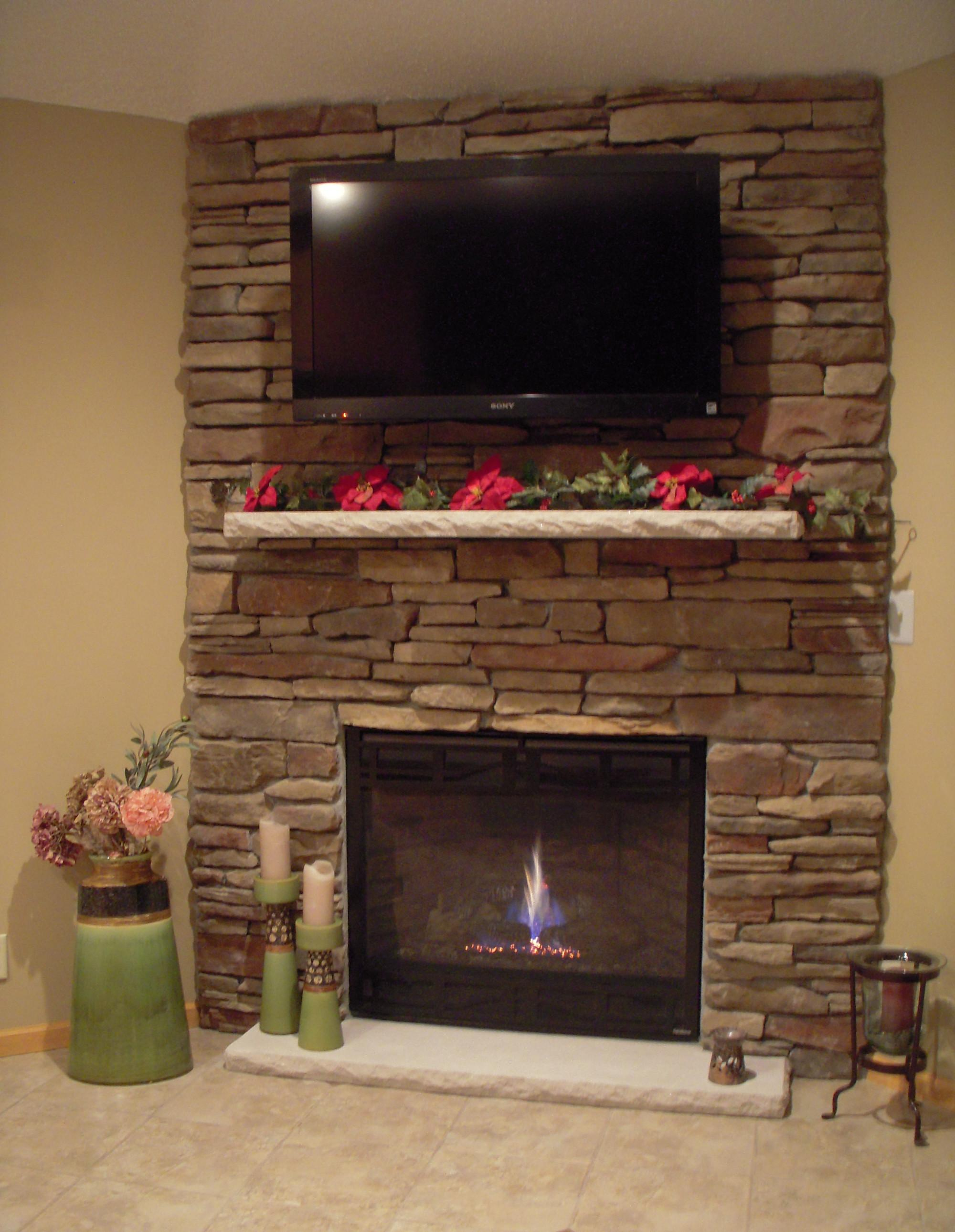Cobblestone Fireplace Cheap Stone Veneer Fake