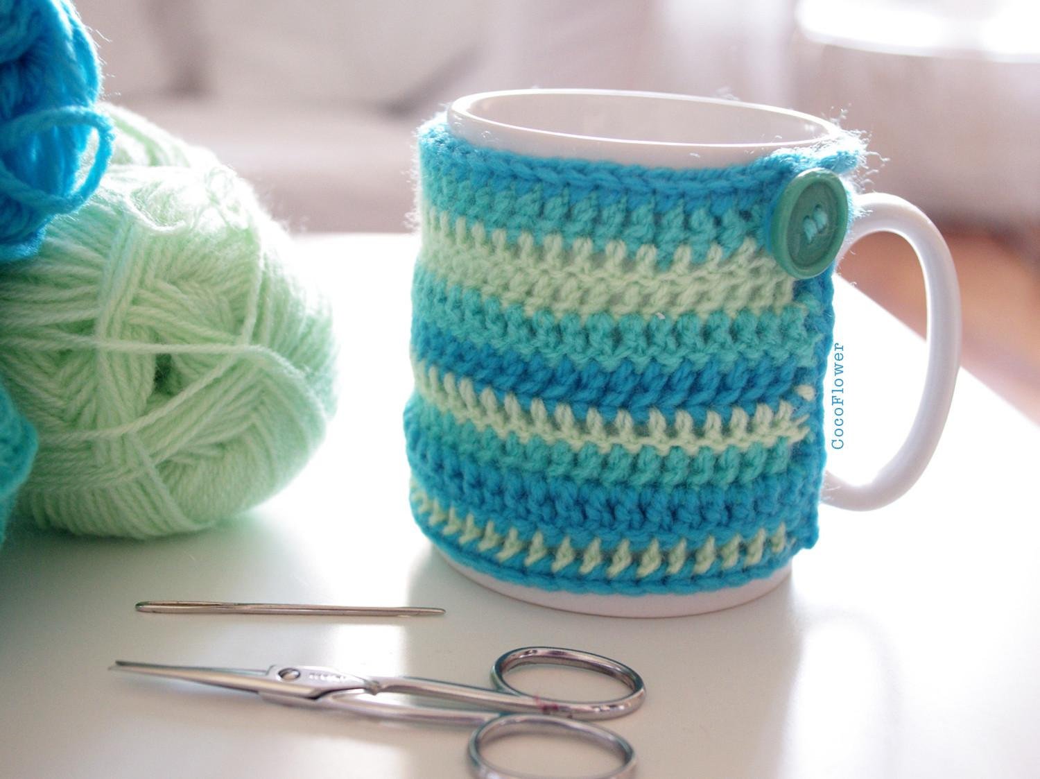 Cocoflower Diy Crafts Crochet Handmade Cozy Mug