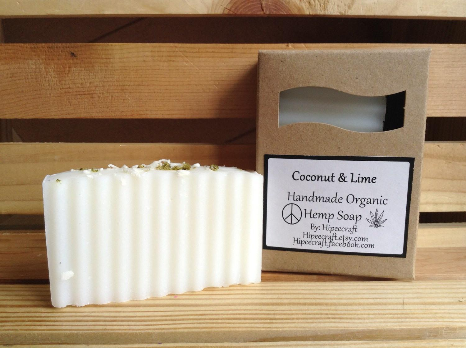 Coconut Lime Soap Homemade Organic Soaps