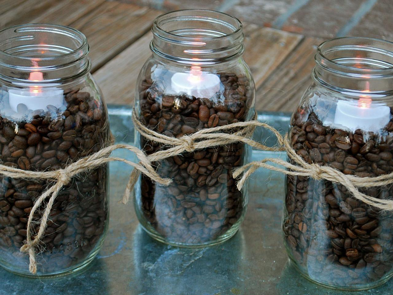 Coffee Bean Candle Centerpieces