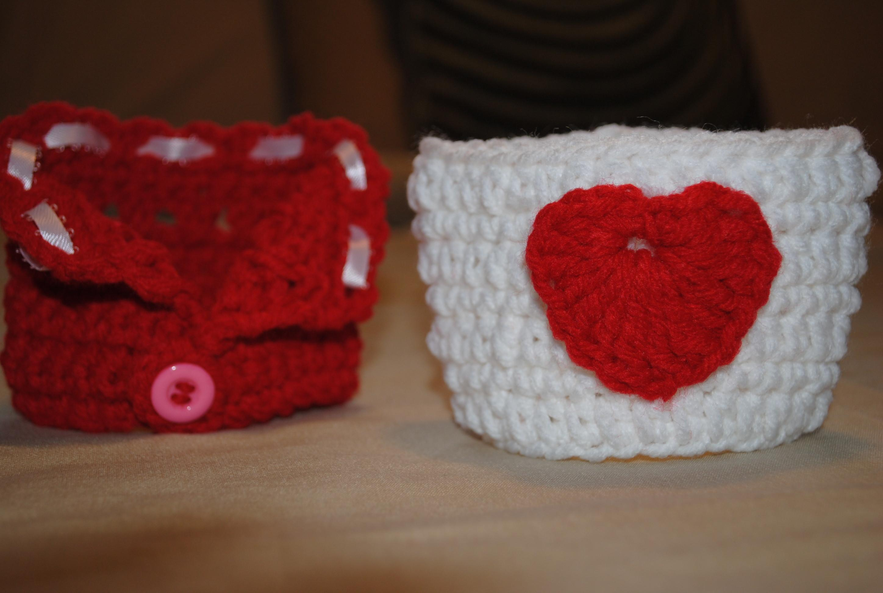 Coffee Cup Cozy Valentines Day Precious Crochet