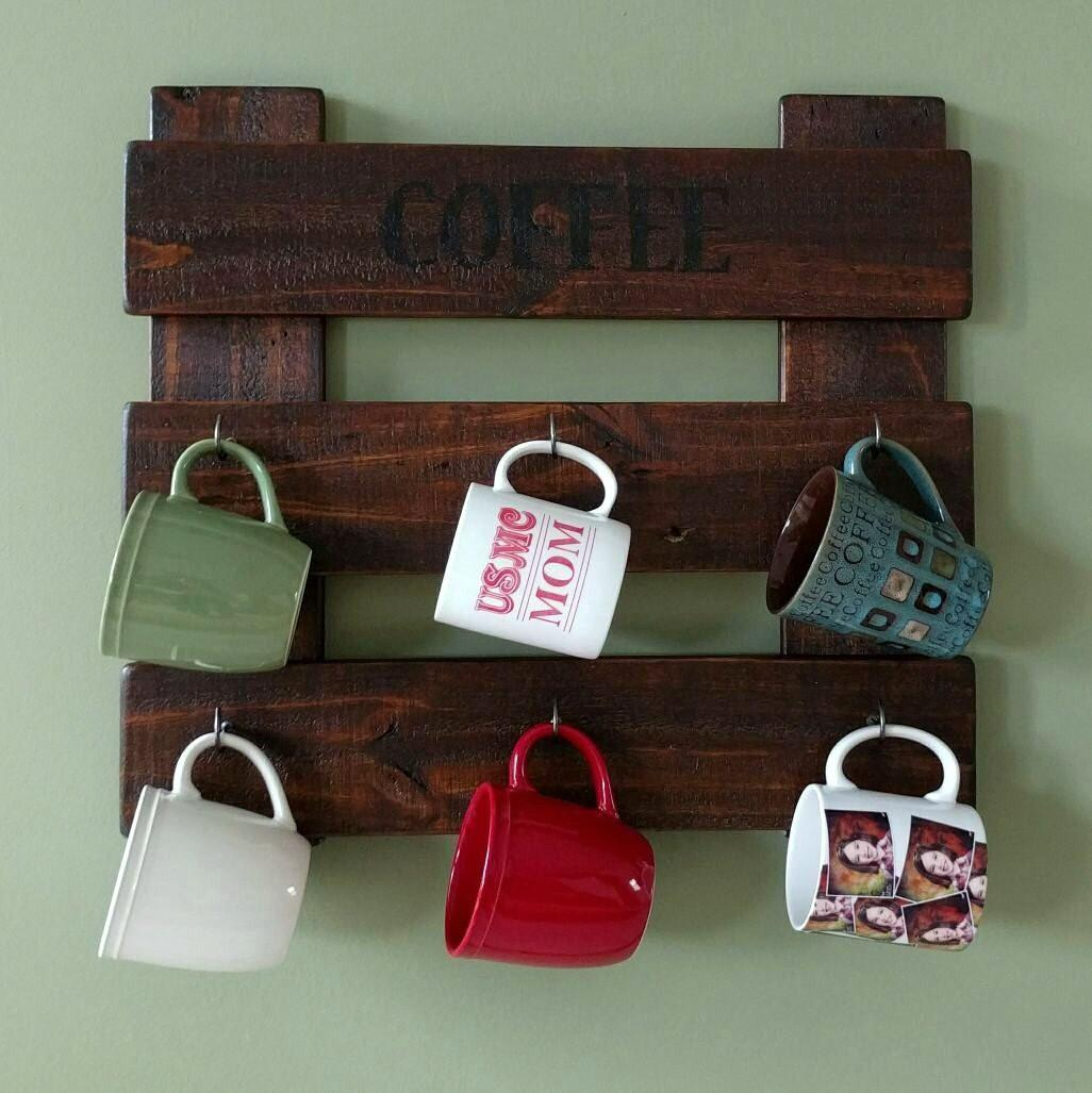 Coffee Cup Holder Made Reclaimed Repurposed Rustic