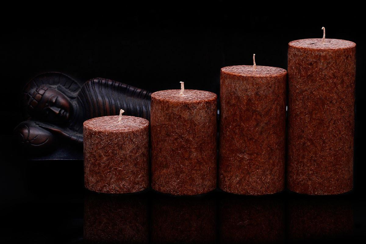 Coffee Scented Marble Pillar Candle Set Maxime Candles