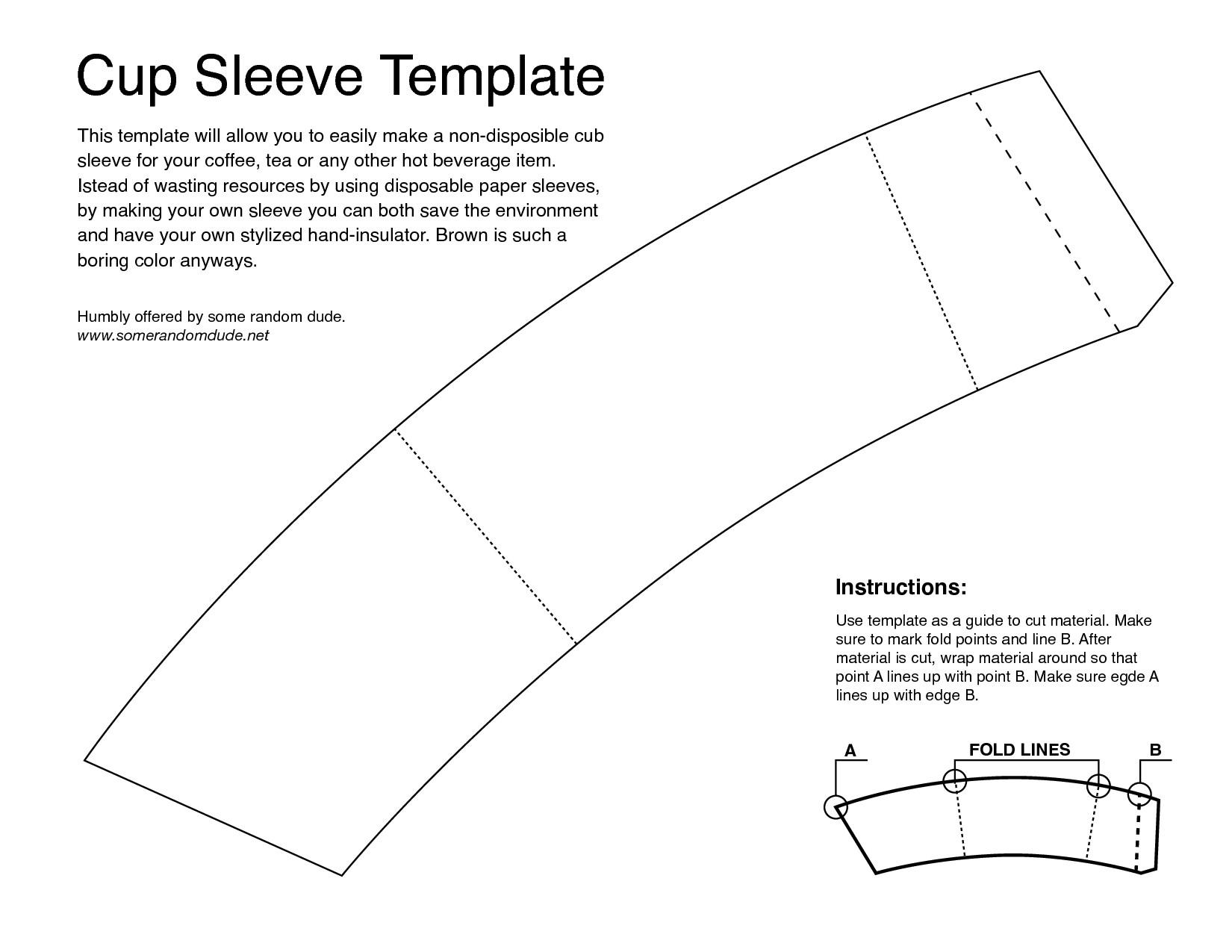Coffee Sleeve Template Business