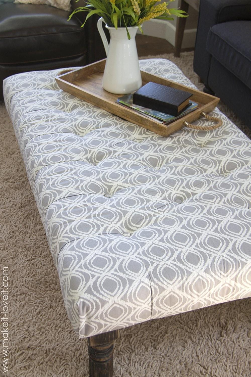 Coffee Table Appealing Upholstered Tables Fabric