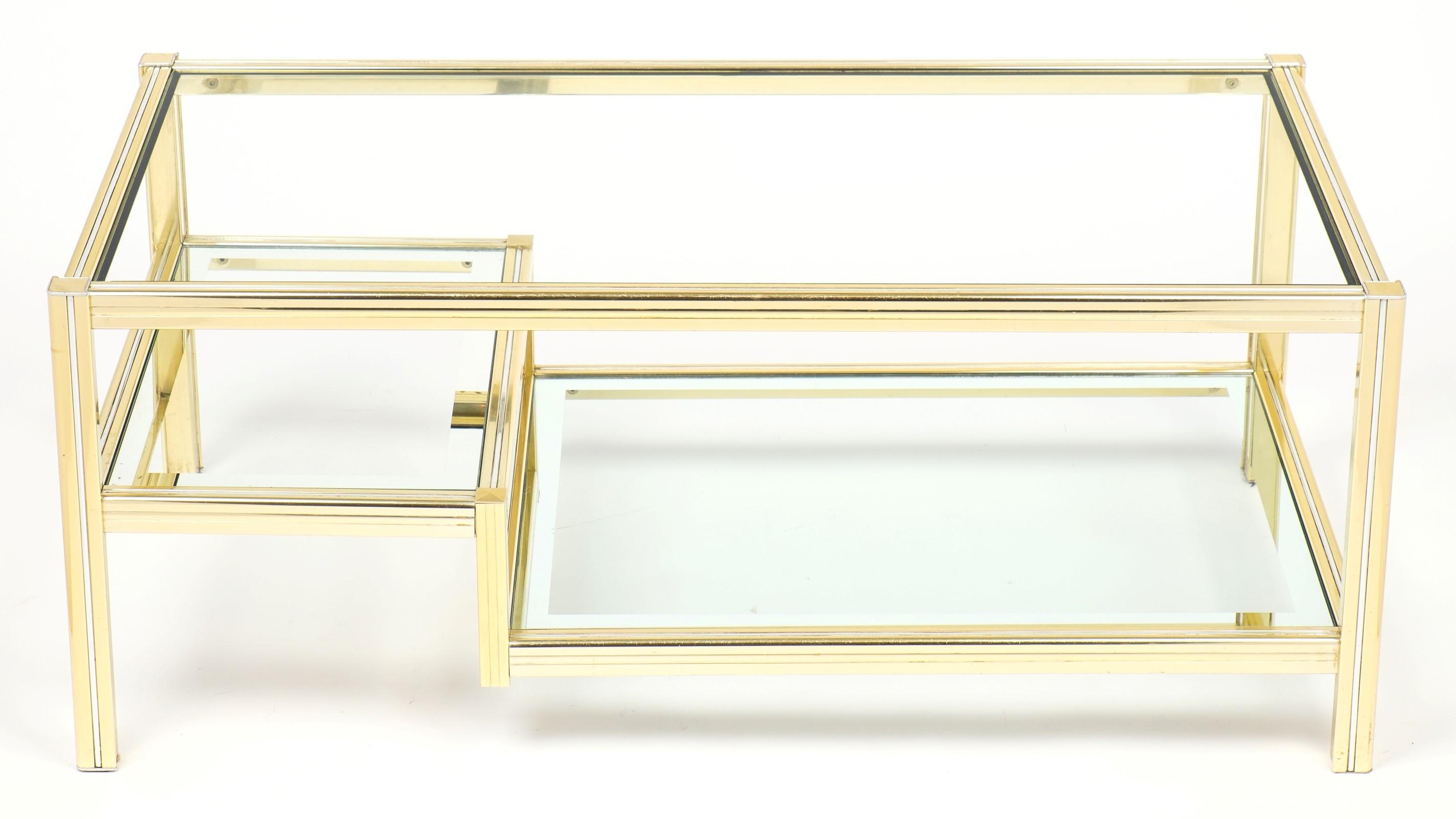 Coffee Table Captivating Brass Glass Design
