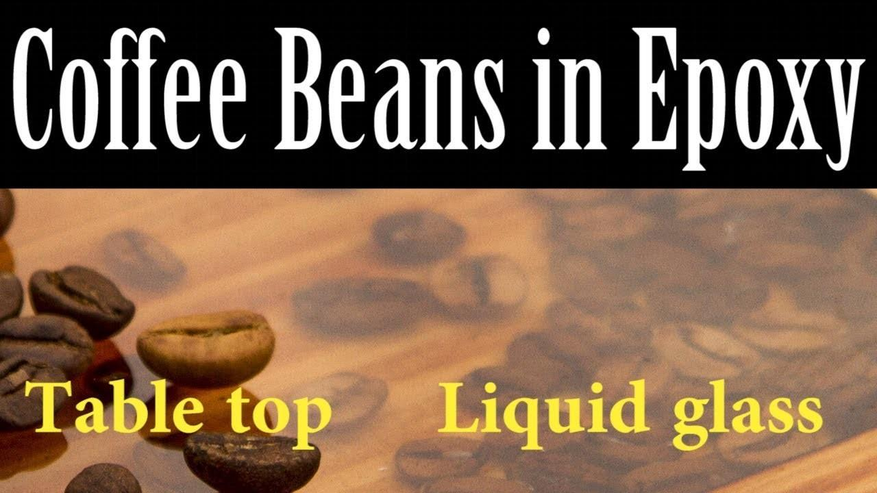 Coffee Table Epoxy Resin Beans Milic