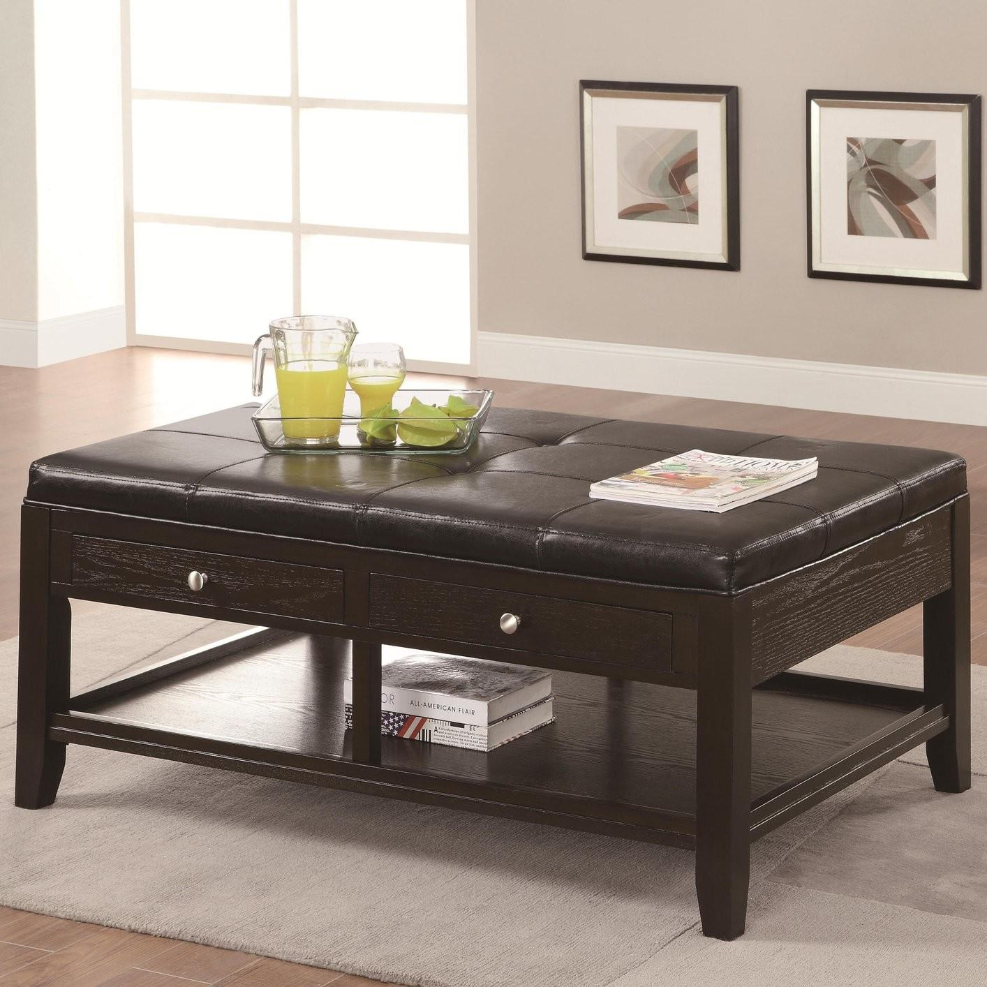 Coffee Table Modern Leather Design
