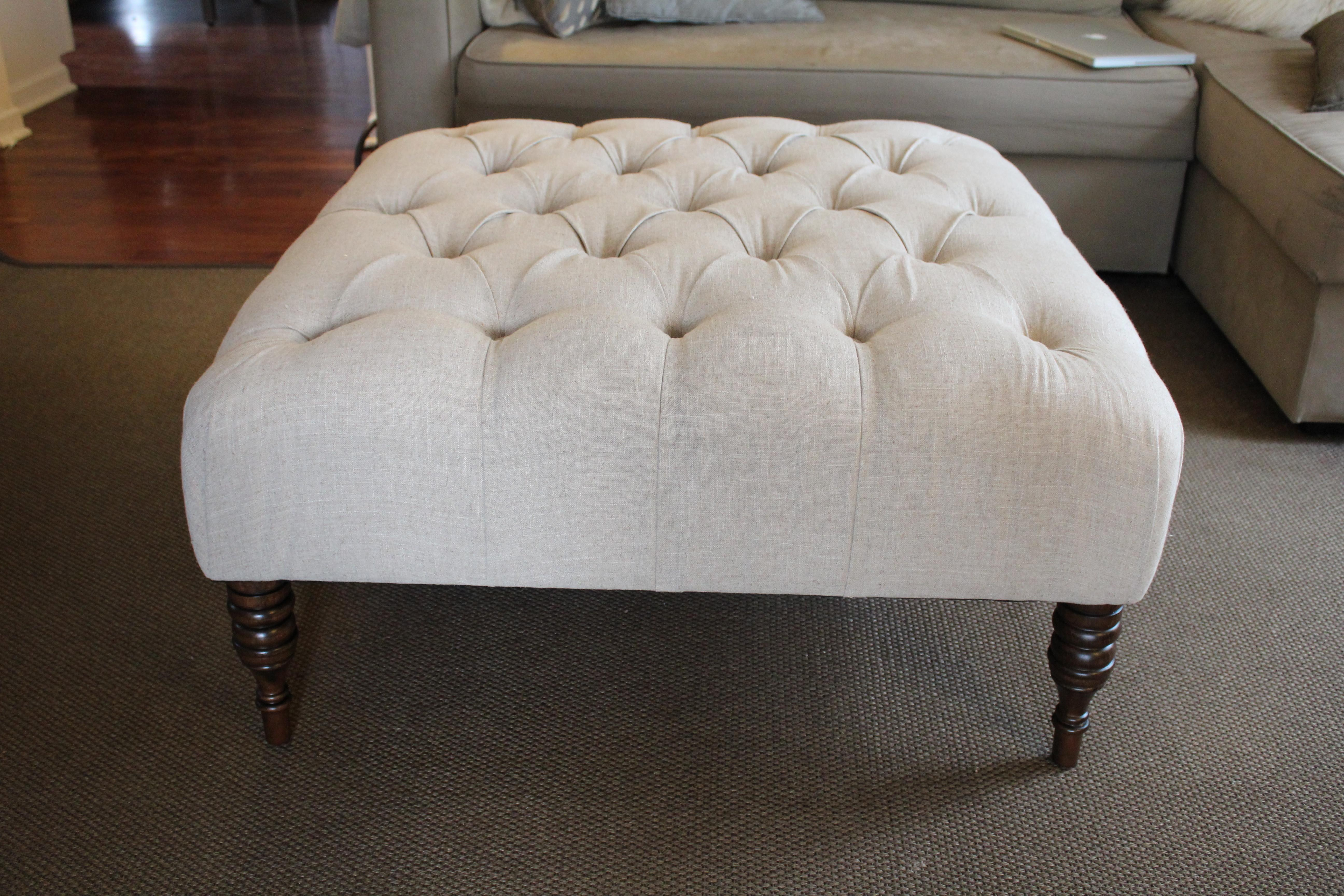 Coffee Table Outstanding Tufted Ottoman Tables