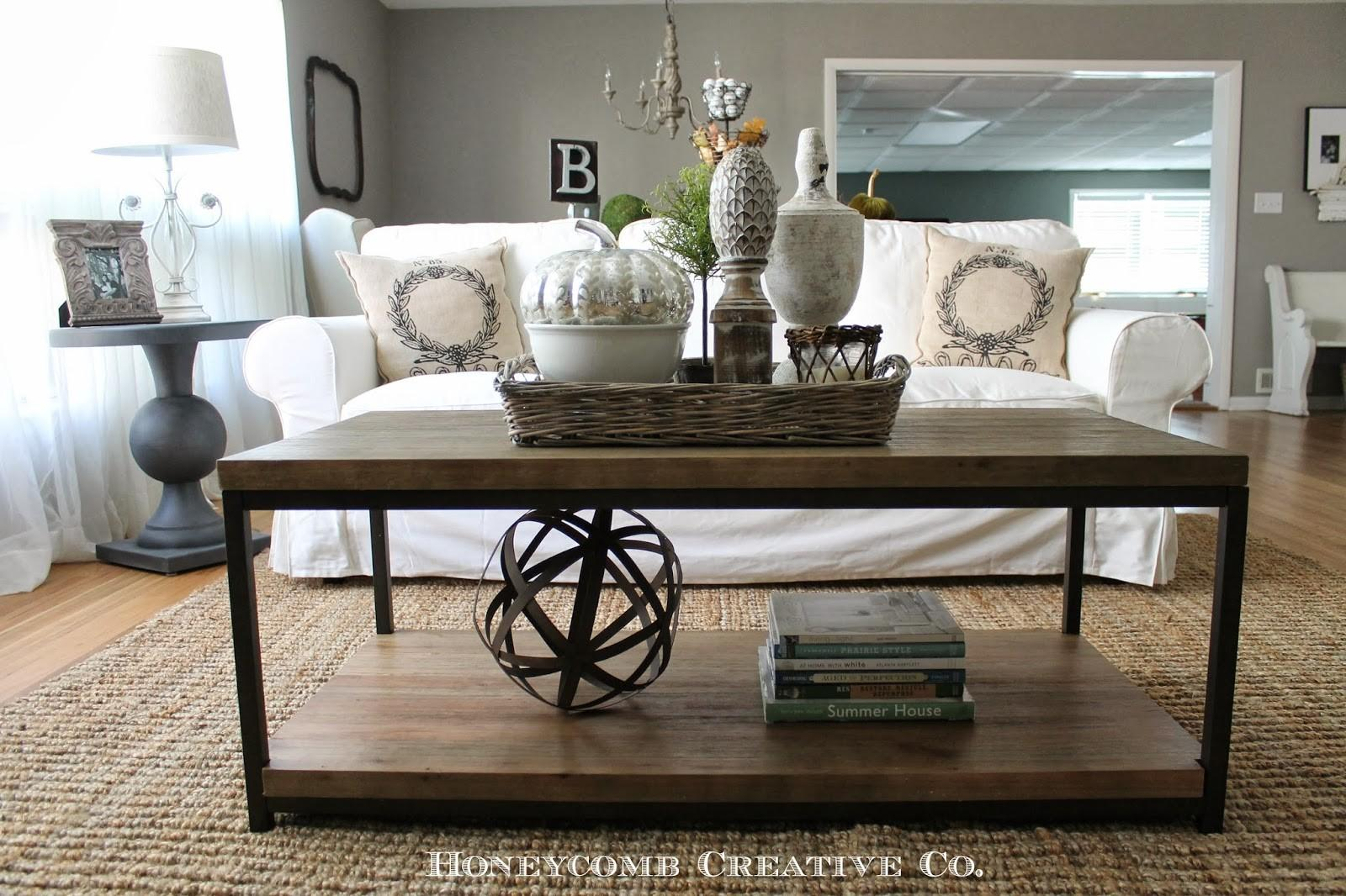 Coffee Table Styling Modern Rustic Style