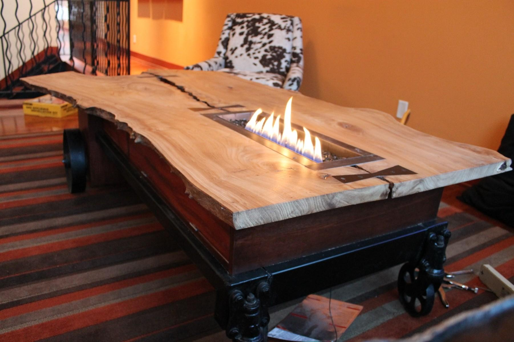 Coffee Table Top Natural Wood Vintage Style