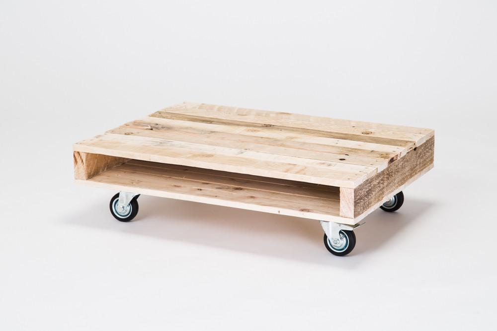 Coffee Table Wheels Pallet Furniture