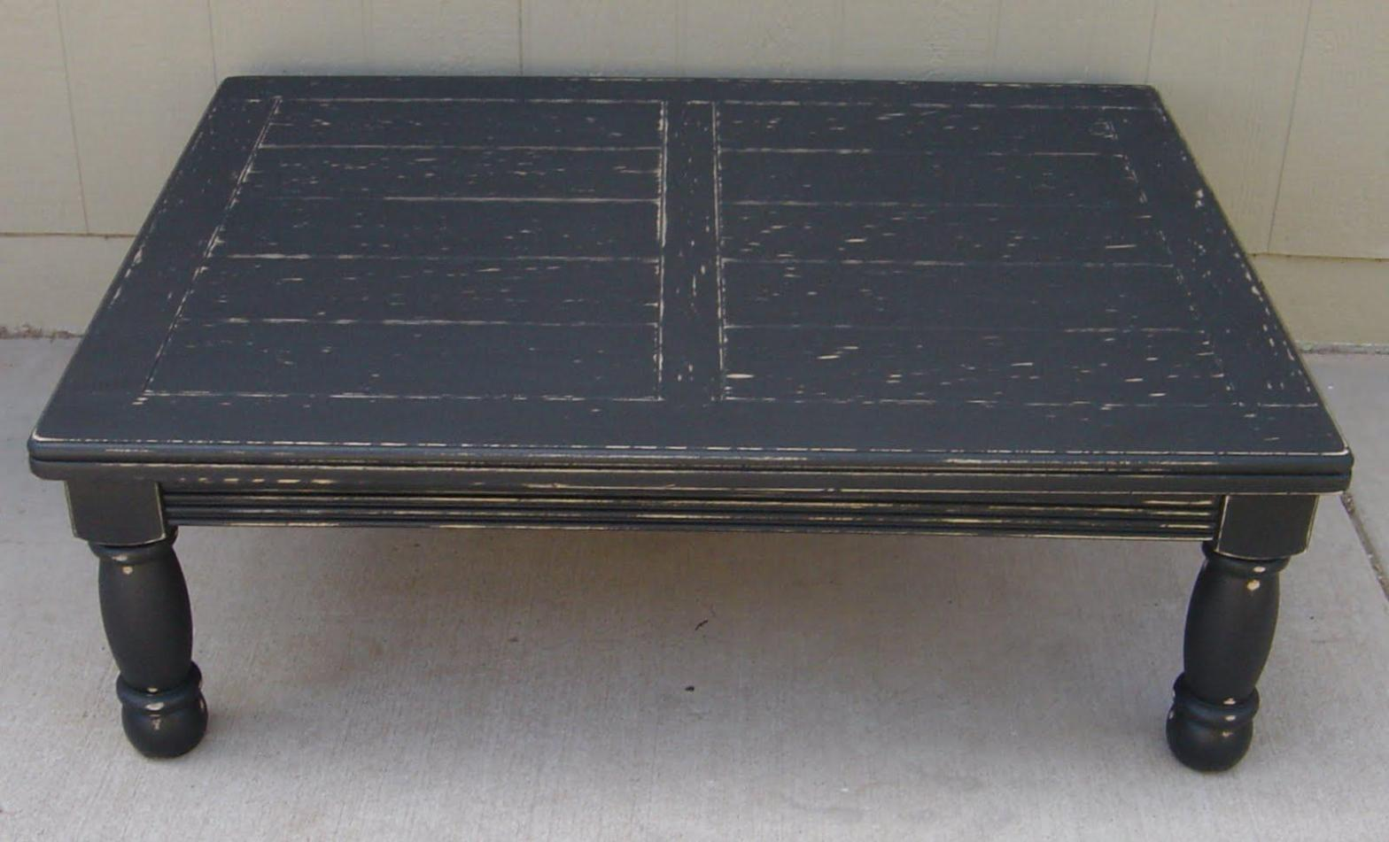 Coffee Tables Ideas Top Distressed Black Table