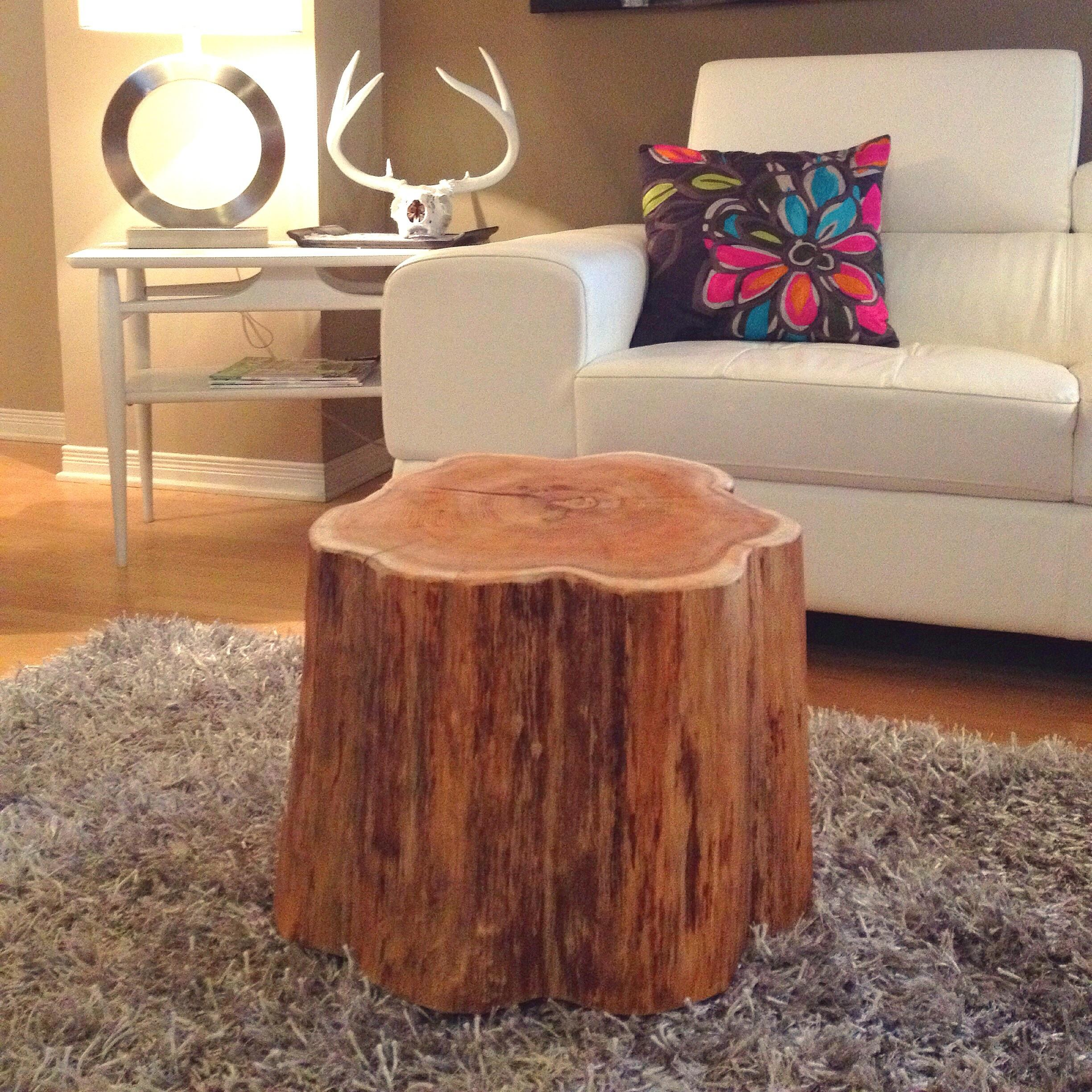 Coffee Tables Log Slice Table Real Tree Dining