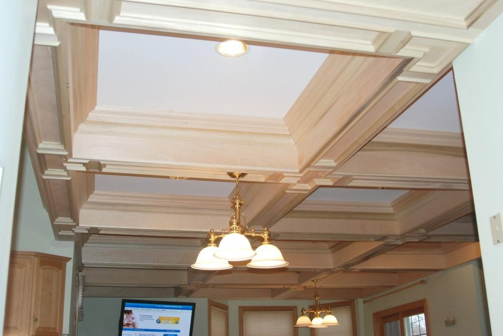 Coffered Ceiling Construction Lighting Ideas
