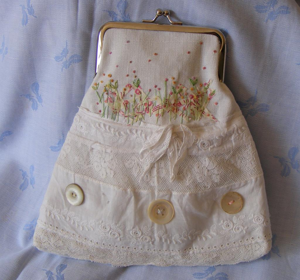 Coin Purse Made French Vintage Cotton Viv
