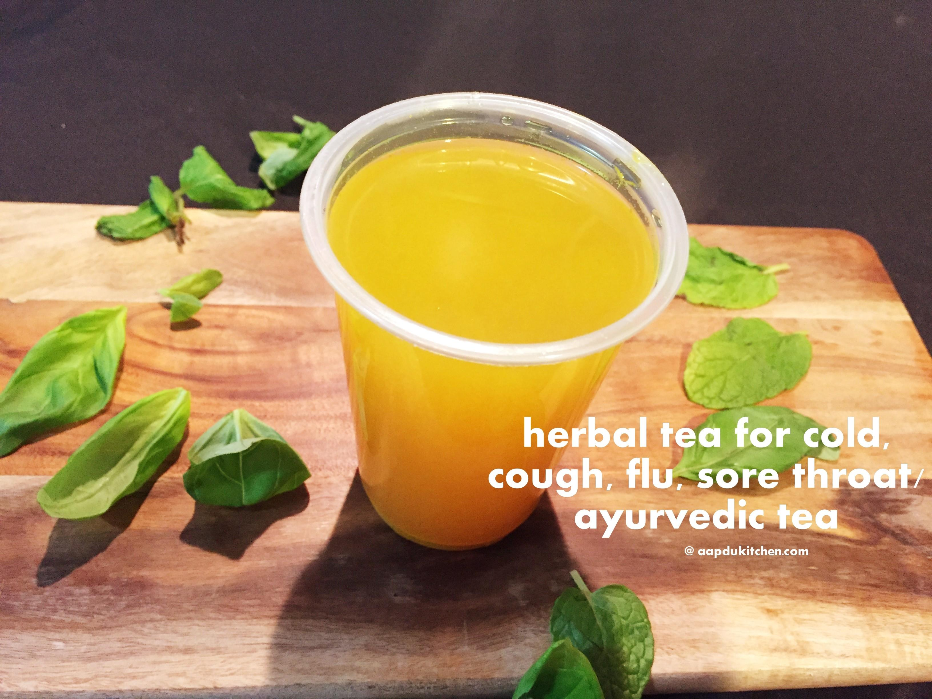 Cold Flu Cough Sore Throat Remedy Herbal Tea Recipe