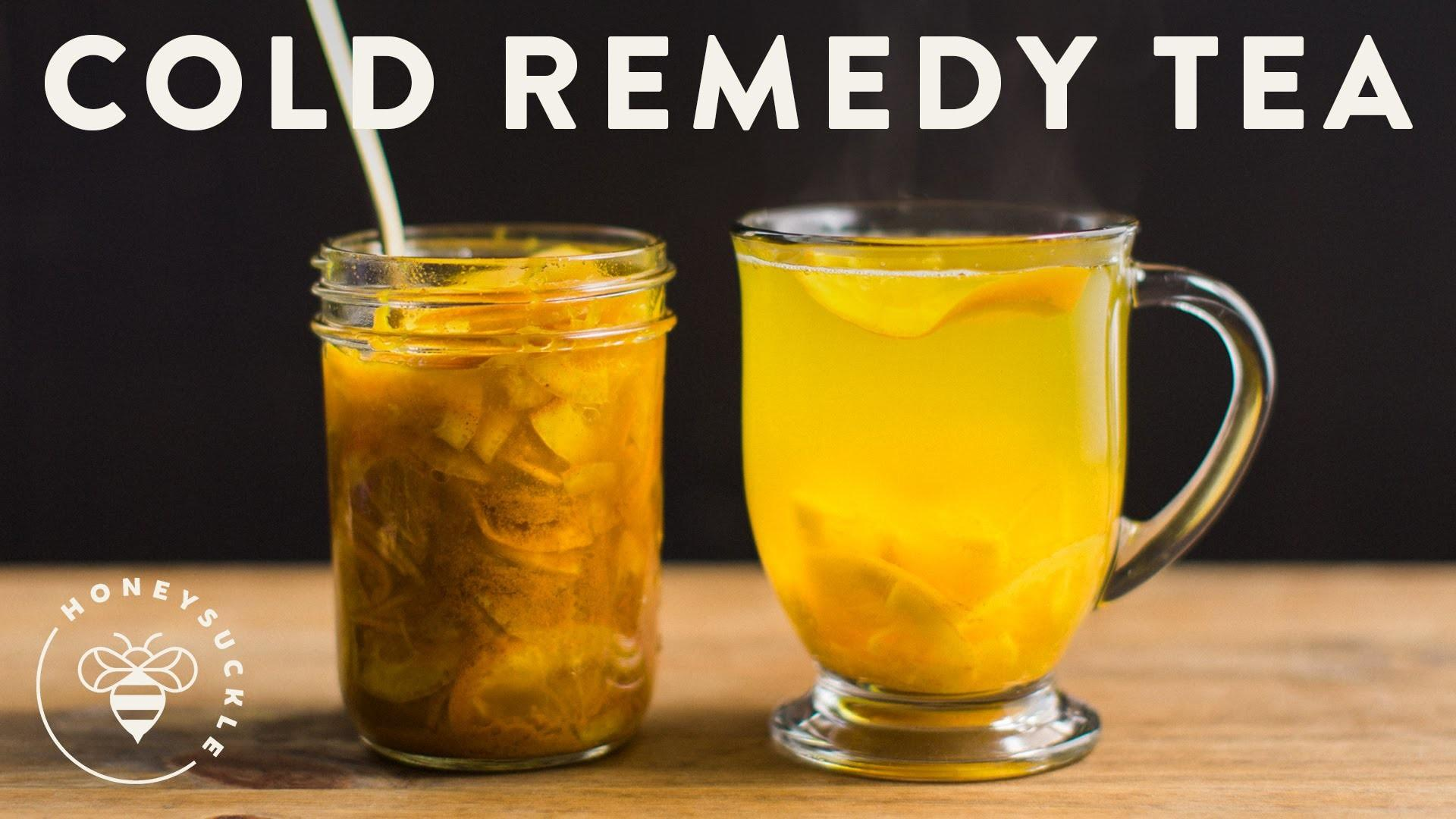 Cold Remedy Tea Turmeric Ginger Honey Citrus