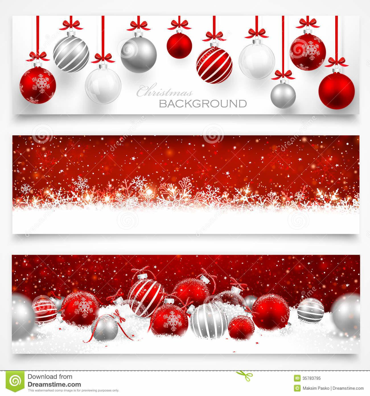Collection Christmas Banners Stock Vector