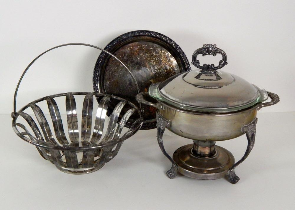 Collection Silver Plate Serving Pieces Ebth