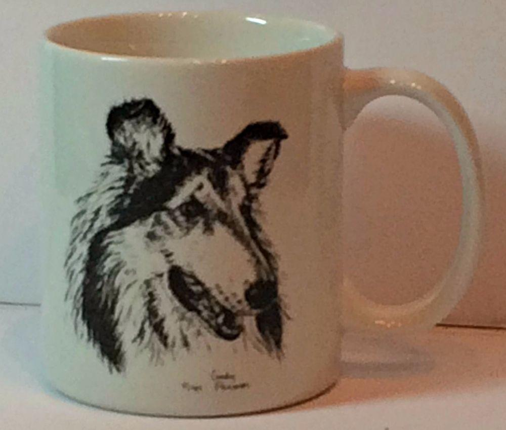Collie Coffee Mug Cup Cindy Farmer Rosalinde Porcelain
