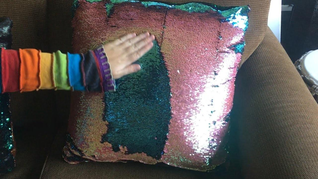 Color Changing Pillows Two Tone Sequin Fabric Diy