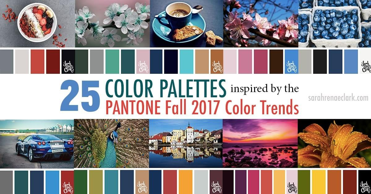 Color Palettes Inspired Pantone Fall 2017