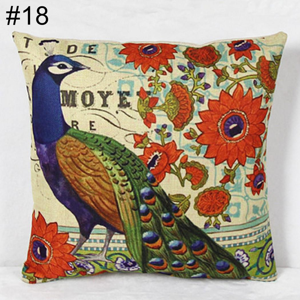 Color Peacock Pillow Cover Home Decoration Fashion