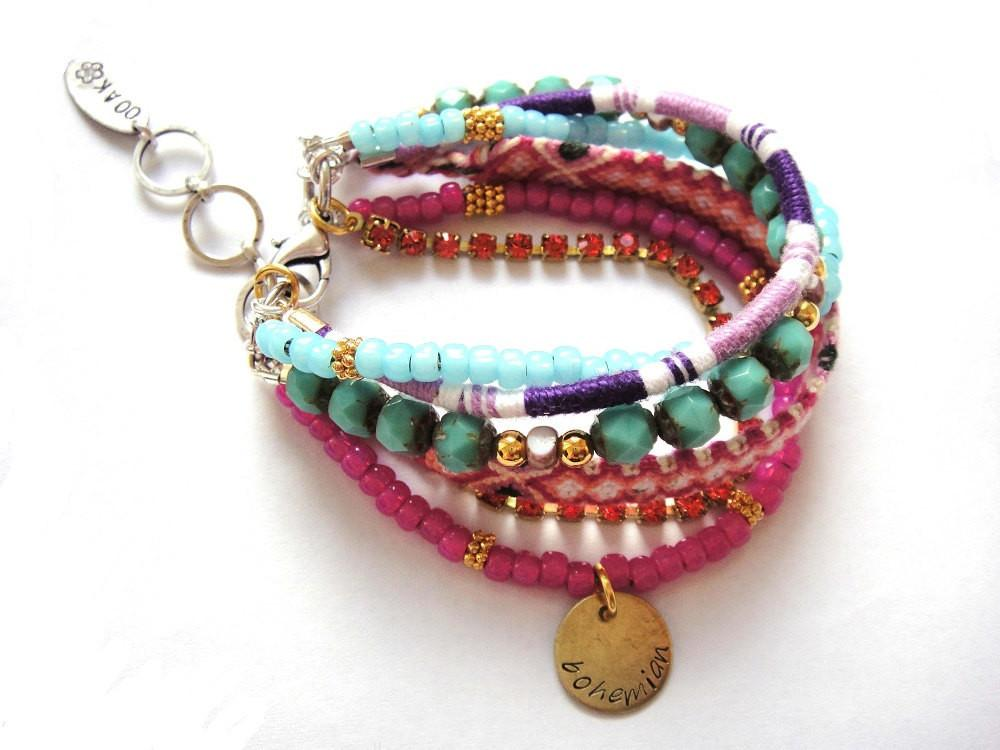 Color Power Boho Earrings Found These