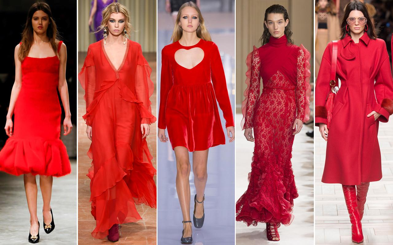 Color Red Hot Trend Fall Winter 2017 Shows