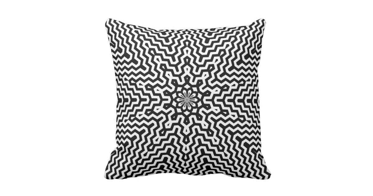 Color Your Own Kaleidoscope Pattern Pillow Zazzle