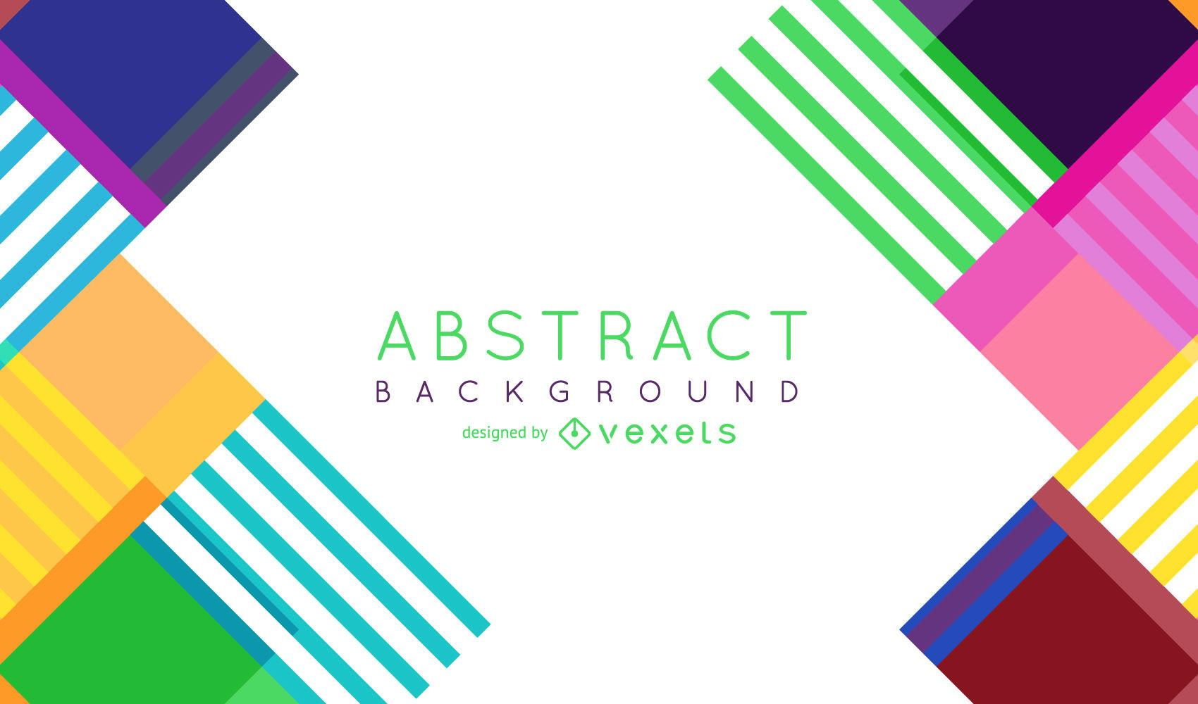 Colorful Abstract Stripes Vector