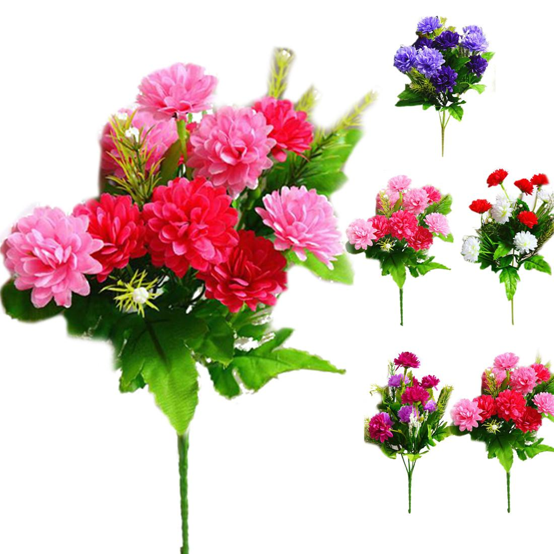 Colorful Artificial Carnations Flowers Branches