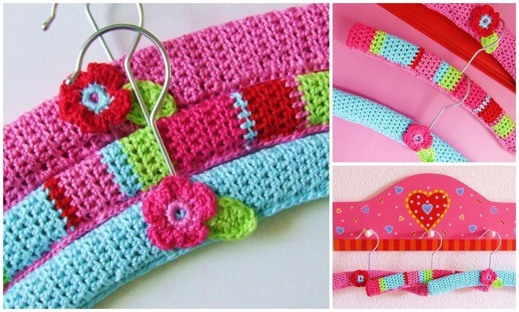 Colorful Clothes Hangers Flower Bed