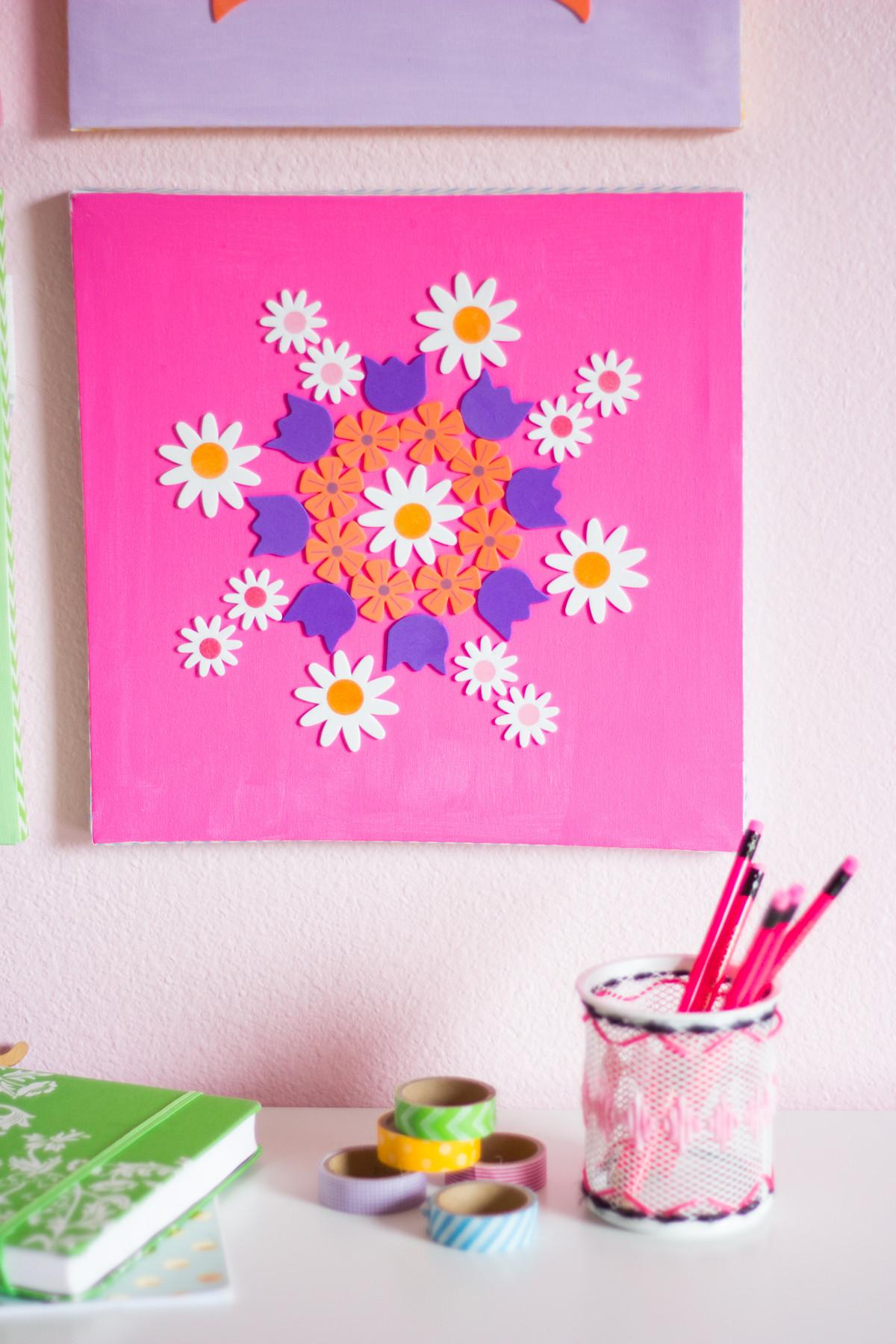 Colorful Diy Flower Canvas Art