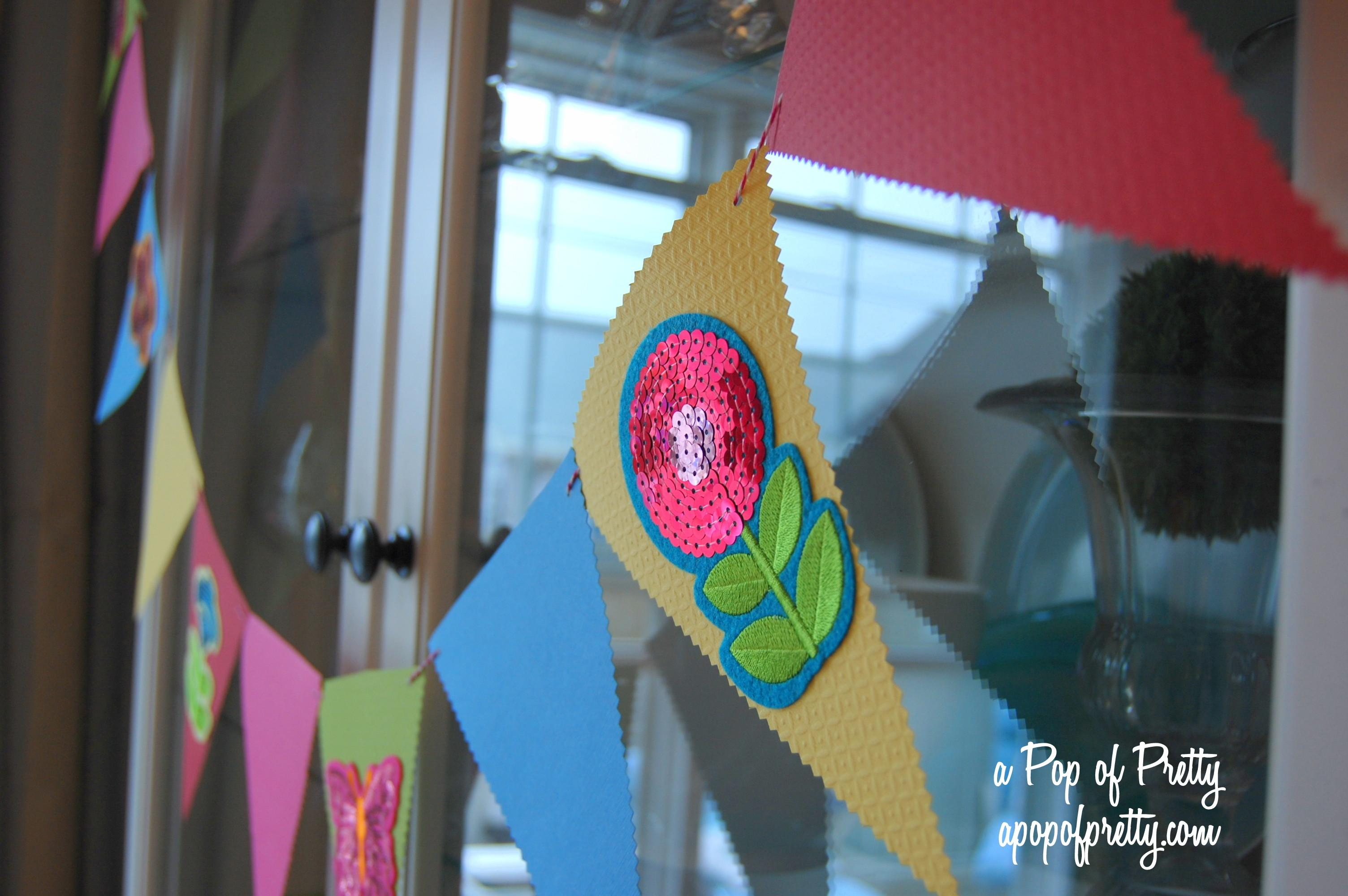 Colorful Diy Pennant Garland Summer Decorating Pop