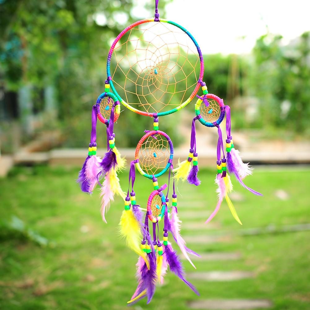 Colorful Dream Catcher Feathers Hanging