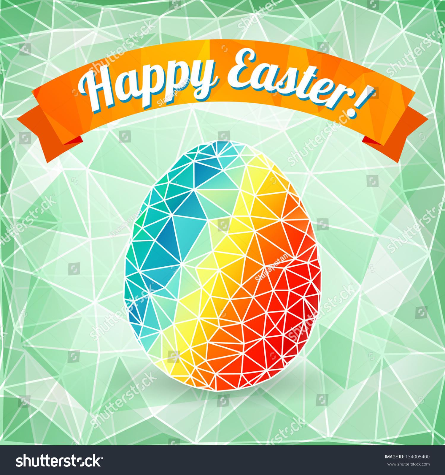 Colorful Easter Egg Abstract Geometric
